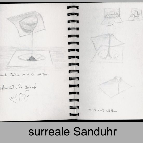 Surreale Sanduhr